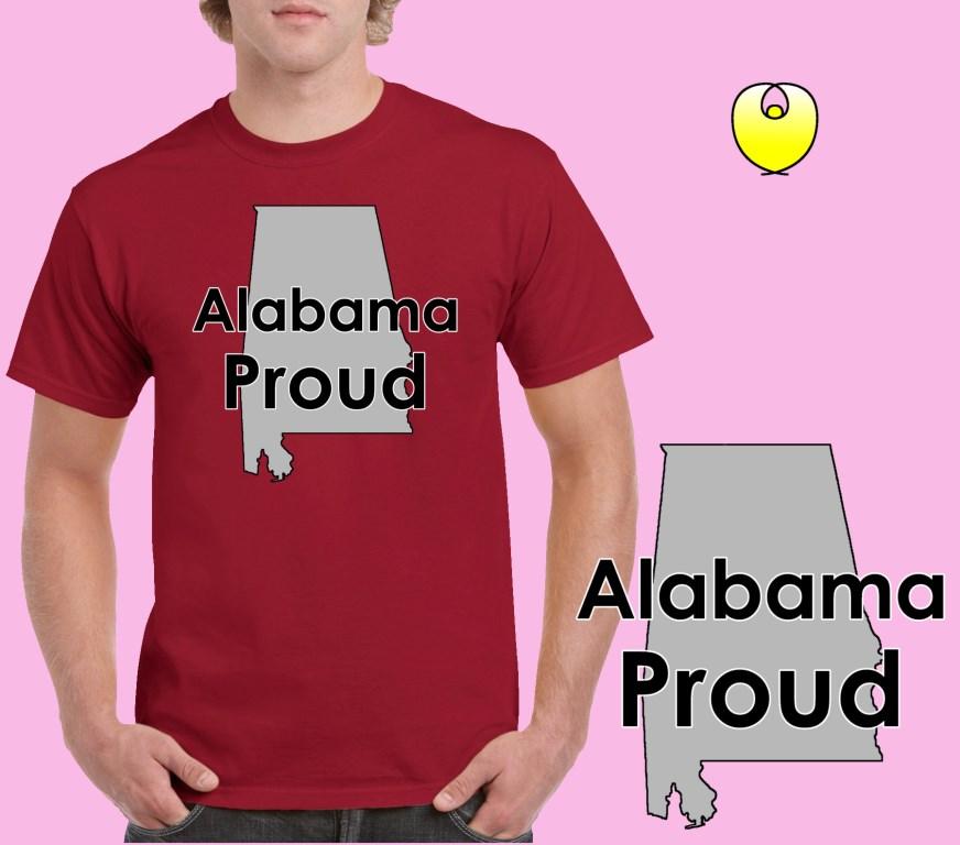 f3fb13a0dea4 Alabama Proud Gray State - Gildan 5000 Cardinal Red -