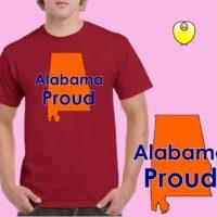55abe8acaffd Alabama Proud Orange State – Gildan 5000 Cardinal Red