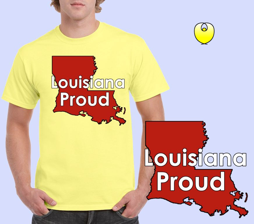 Louisiana Proud Vermilion State – Gildan 5000 Corn Silk