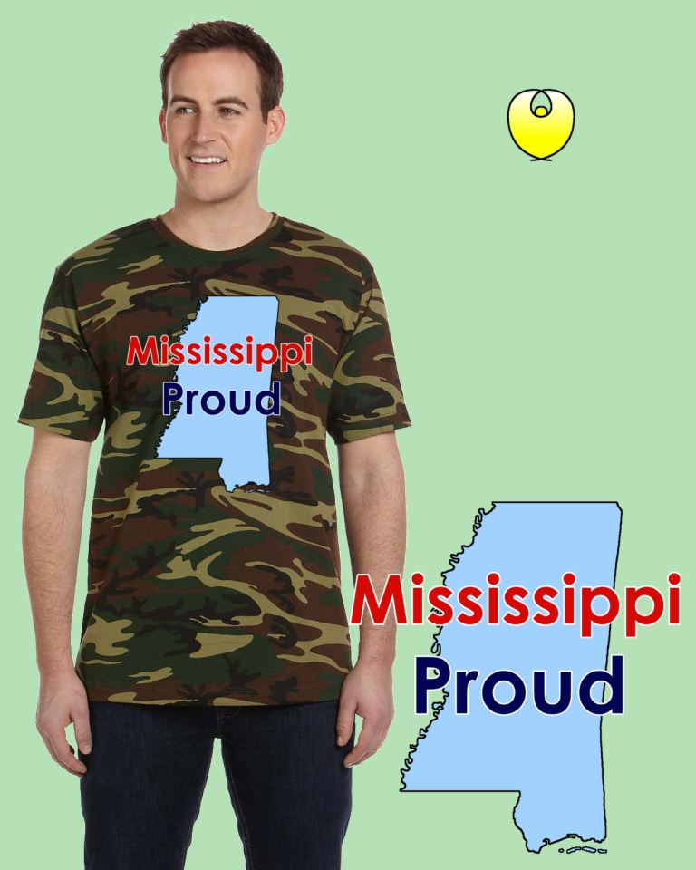 Mississippi Proud Baby Blue State – Code V 3906 Wood Green
