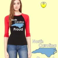NC Bella Baseball Carolina Blue State